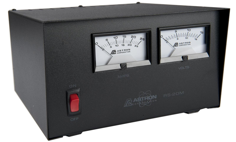 Astron RS20M 20 Amp Power Supply with Meter